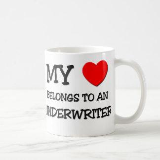 My Heart Belongs To An UNDERWRITER Coffee Mug