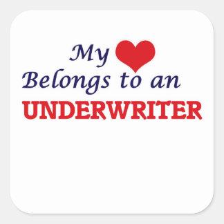 My Heart Belongs to an Underwriter Square Sticker