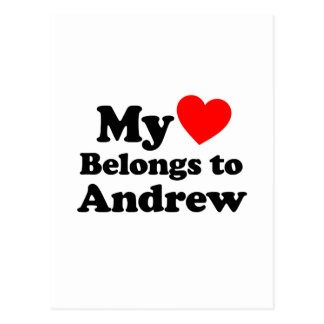 My Heart Belongs to Andrew Postcard