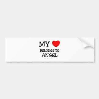 My Heart Belongs To ANGEL Car Bumper Sticker