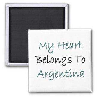 My Heart Belongs To Argentina Magnet