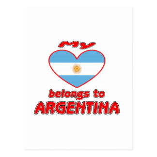 My heart belongs to Argentina Postcards