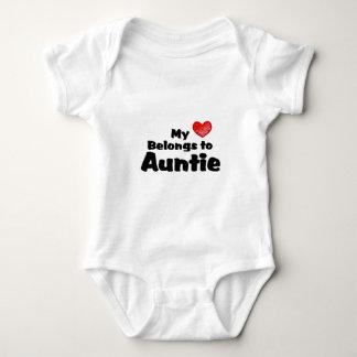 My Heart Belongs To Auntie Baby Bodysuit