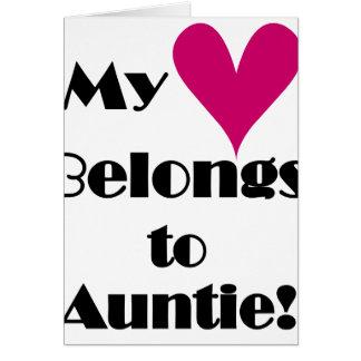 My Heart Belongs to Auntie Card