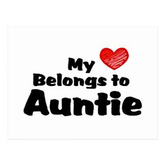 My Heart Belongs To Auntie Postcard