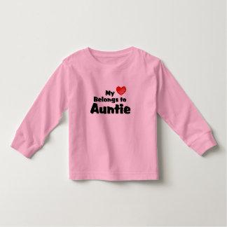 My Heart Belongs To Auntie Toddler T-shirt