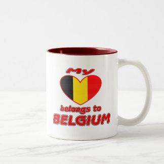 My heart belongs to Belgium Coffee Mugs