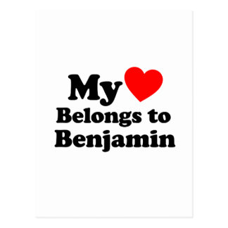 My Heart Belongs to Benjamin Postcard