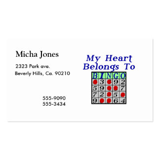 My Heart Belongs To Bingo Business Card