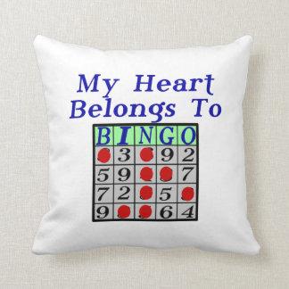 My Heart Belongs To Bingo Throw Pillow