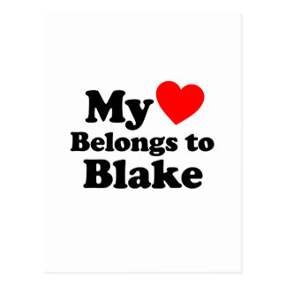 My Heart Belongs to Blake Postcard