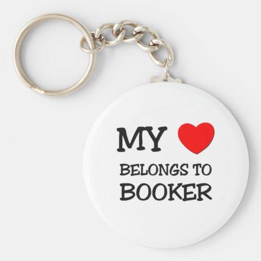 My Heart Belongs to Booker Basic Round Button Keychain