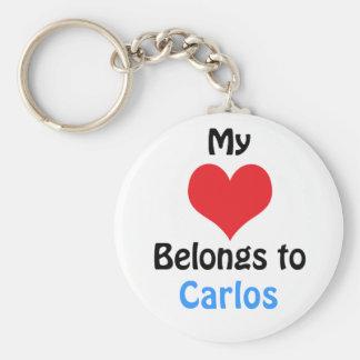 My heart Belongs to Carlos Keychain