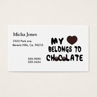 My Heart Belongs To Chocolate Business Card