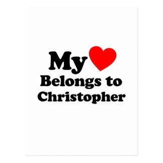 My Heart Belongs to Christopher Postcard