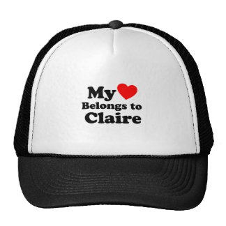 My Heart Belongs to Claire Mesh Hat