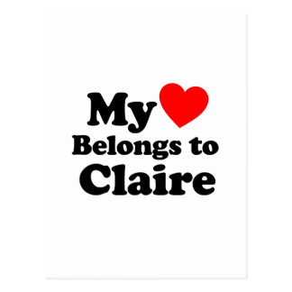 My Heart Belongs to Claire Postcard