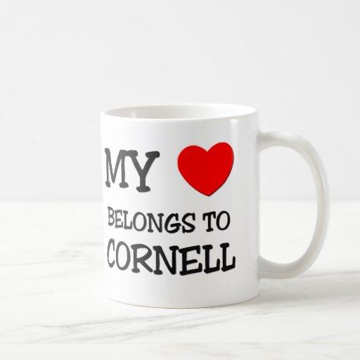 My Heart Belongs to Cornell Classic White Coffee Mug