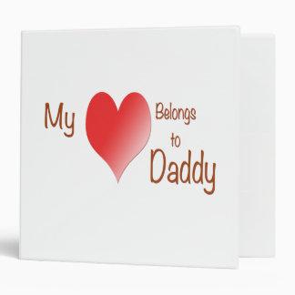 My Heart Belongs to Daddy 3 Ring Binders