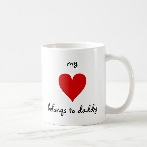 my heart belongs to daddy classic white coffee mug