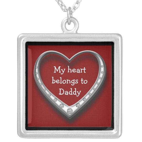 My Heart Belongs to Daddy Heart Necklace