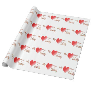 My Heart Belongs to Daddy Wrapping Paper