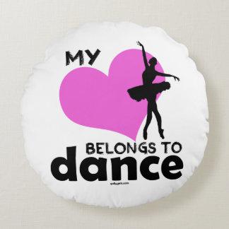 My Heart Belongs to Dance Round Pillow