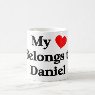 My heart belongs to daniel coffee mug