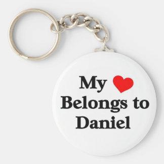 My heart belongs to daniel keychain