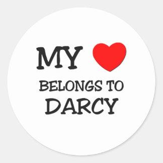 My Heart Belongs To DARCY Classic Round Sticker