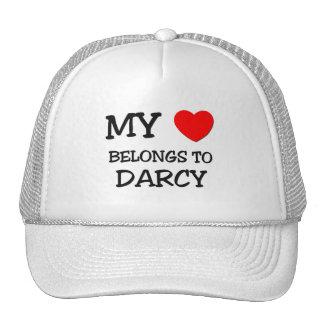 My Heart Belongs To DARCY Mesh Hats
