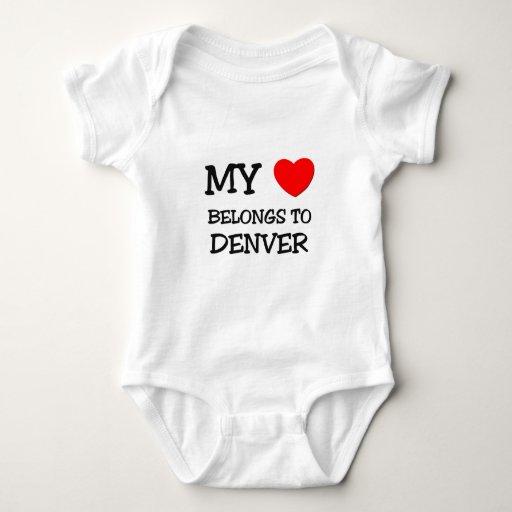 My heart belongs to DENVER T Shirts