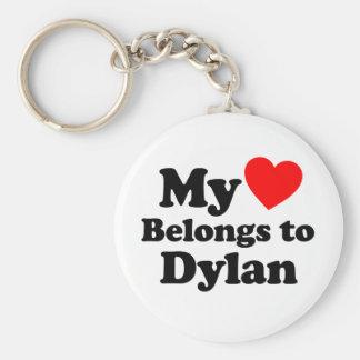 My Heart Belongs to Dylan Keychain
