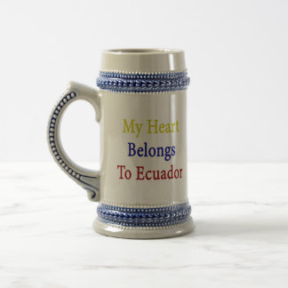 My Heart Belongs To Ecuador Mugs