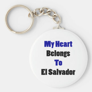 My Heart Belongs To El Salvador Basic Round Button Keychain
