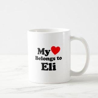 My Heart Belongs to Eli Coffee Mug