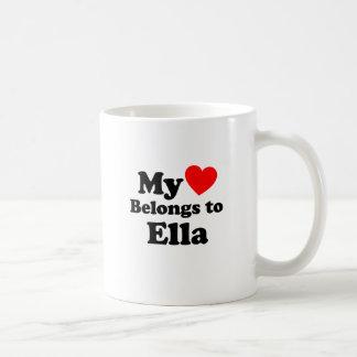 My Heart Belongs to Ella Coffee Mug