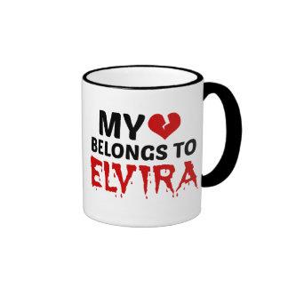My Heart Belongs to Elvira Ringer Mug