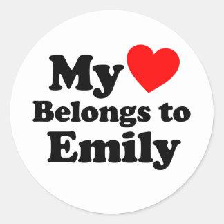My Heart Belongs to Emily Stickers
