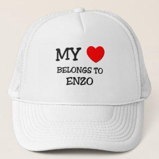 My Heart Belongs to Enzo Trucker Hat