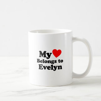 My Heart Belongs to Evelyn Coffee Mug