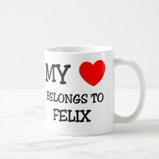 My Heart Belongs to Felix Coffee Mugs