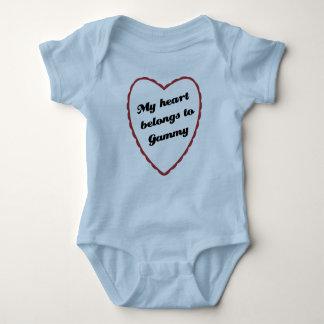 My Heart Belongs to Gammy Baby Bodysuit