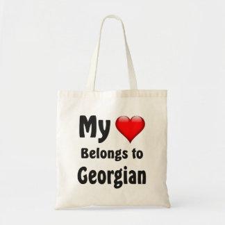 My heart Belongs to Georgian Tote Bag