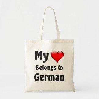My heart Belongs to German Tote Bag