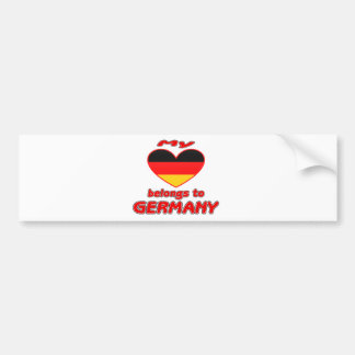 My heart belongs to Germany Bumper Sticker