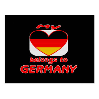My heart belongs to Germany Post Cards