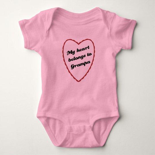 My Heart Belongs to Grampa Baby Bodysuit