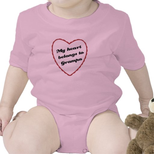 My Heart Belongs to Grampa Tee Shirts