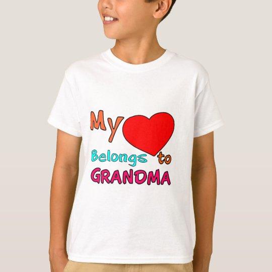 MY HEART BELONGS TO GRANDMA.png T-Shirt